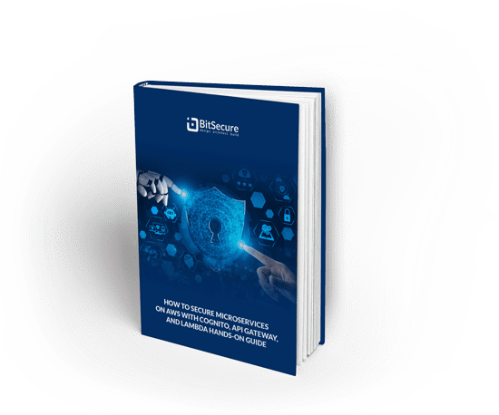 Ebook Graphic - How to secure Microservices on AWS with cognito, API gateway and Lambda house on guide